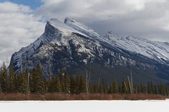 Patchy light (bichane) Tags: banff national park alberta winter snow ice vermillion lakes rundle trees cloud