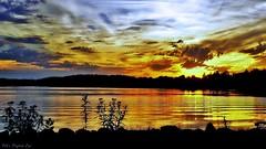 Sunset Silhouettes (Bob's Digital Eye) Tags: bobsdigitaleye cloud clouds dusk flicker flickr kodakm532 laquintaessenza lake lakesunsets lakescape landscape outdoor silhouette sky sunset sunsetsoverwater water