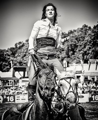Devil's Horse(wo)man Camilla Naprous (Andy J Newman) Tags: stunt ride rider horse horses horseman horsewoman nikon d7100 silverefex portrait action lady girl devil