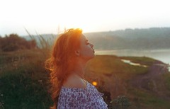 Dear Em. (tanja_moss) Tags: 35mm eternal tenderness eyes room redhair red dream art darkroom tanjamoss story petite nature autumn photography undine sun summer kodak forest love