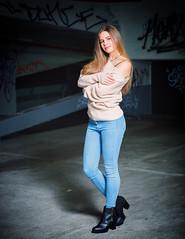 Selina-1-36e (keithob1 Over 1 Million views - Thank you) Tags: night woman beauty fashion hair jeans boots carpark
