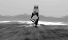 Surf (EdgarJa) Tags: fuerteventura surf sea black white wind speed storm windsurfing