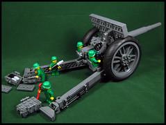 Fire for effect! (Karf Oohlu) Tags: lego moc artillery minifig armyfigures howitzer gun battery shell amunitionbox