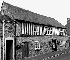 The old gaol house (eucharisto deo) Tags: bw fachwerk oldgaol timberframe tudor much wenlock tudorstyle blackandwhite bandw blackwhite timber frame timberframed