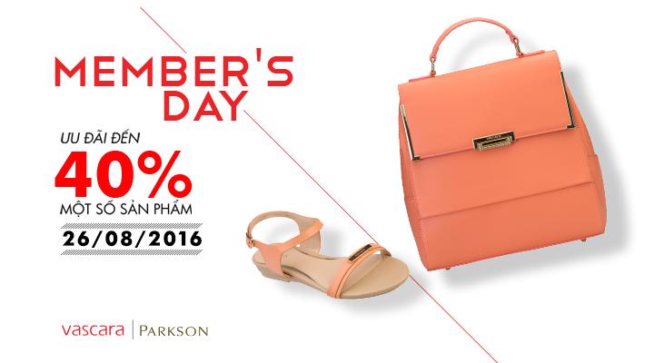 Vascara Parkson - Member's day - Ưu đãi 40% một số sản phẩm
