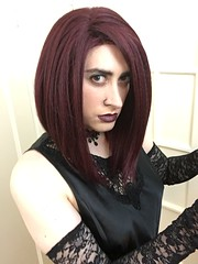 Dark Red Goth (SecretJess) Tags: crossdress cd crossdresser lgbt genderfluid gurl girly tgirl trans transvestite tg femme girls bigender girlslikeus