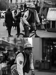 [La Mia Citt][Pedala] (Urca) Tags: milano italia 2016 bicicletta pedalare ciclista ritrattostradale portrait dittico bike bicycle biancoenero blackandwhite bn bw 89123