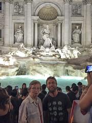 Marilyn & Graham at Trevi Fountain_2 (David_and_Marilyn_King) Tags: rome 2016 trevifountain fontana night illuminated fontaine marilyn graham