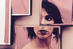 Fragments of you (RosLol) Tags: roslol gaia gaiasnose woman donna ragazza girl portrait ritratto specchio mirror frammenti fragments lips labbra project viola purple amica friend