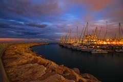 Marina Tel-Aviv (Lior. L) Tags: marina telaviv telavivbeach israel clouds evening lights boats sailboats sea breakwater