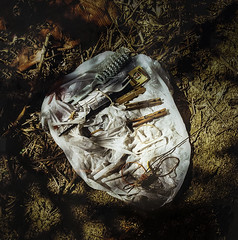 'Discarded' by Anthony Hernandez (Greatest Paka Photography) Tags: photographer anthonyhernandez photography urbanlife discarded abandoned desolation remnants street accessories sfmoma museum art isolation losangeles homeless shadow light