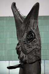 IMG_0053 (www.ilkkajukarainen.fi) Tags: hauki pike musiikkitalo statue patsas helsinki hammas hampaat suu finland suomi eu europa scandinavia 13m reijohukkanen laulupuut sculpture