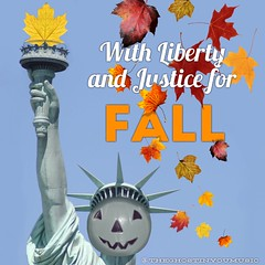 Make America spooky again (the ghost in you) Tags: halloween makeamericagreatagain fall leaves october trickortreat pumpkin pumpkins jackolantern horror statueofliberty