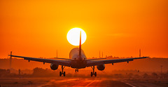 _DSC6718 (jsanchezq65) Tags: landing sunset aircraf airplane spotting spotter runway airport aviation