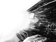 T R U (Lliesse) Tags: road trip light sun white black luz window glass true car hair t fire glasses soleil artwork do track noir ray glow y wind lumire like voiture we cover r u mind worried ban visual audio fentre blanc lux trippin blo desing drift feux thru tru graphique throught naitre lliesse mdbw