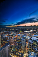Lights On (Bobby Krstanoski - Photography) Tags: winter sunset skyline architecture canon buildings landscape outdoor sydney darlingharbour hdr blueskys sydneytower canonefs1022mm canon550d focusnswseascapelandscapephotography
