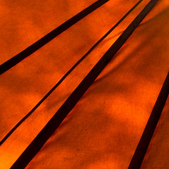Glowing inside (wuwei2012) Tags: light orange abstract square sweden tent minimalism rebro naturenshus 20121012014