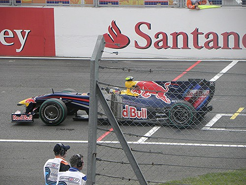 Mark Webber in his Red Bull at the 2009 British Grand Prix