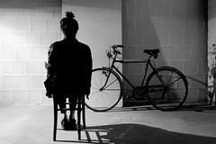 Seule avec le vlo.. The making of shooting of.. chez Nicola Bacchilega fashion warehouse (Paolo Pizzimenti) Tags: film fashion nicola paolo olympus dxo shooting mode zuiko couture f28 italie e5 doisneau pellicule 1122mm bacchilega