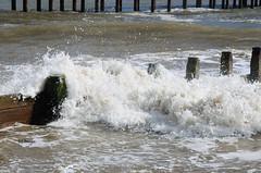 Crashing (EJ Images) Tags: uk sea england slr water coast suffolk nikon wave coastal dslr groyne southwold eastanglia 2012 breakingwave nikonslr d90 solebay nikondslr suffolkcoast nikond90 18105mmlens ejimages dsc117201