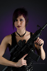 Zombie Killer (chunkomatic) Tags: hot sexy cool nikon punk purple rocker ar15 lumopro d7000 sb700 westcottapollostrip