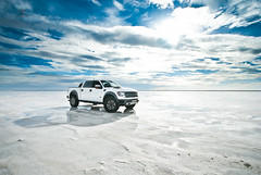 Ford F-150 SVT Raptor (Folk|Photography) Tags: blue sky white ford water clouds truck photography nikon offroad 4x4 folk salt sigma wideangle automotive f150 professional flats raptor highkey gil 1020mm bonneville svt d3000 worldcars folkphotography folk|photography