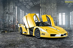 Enzo ZXX (Keno Zache) Tags: red canada building car yellow photography doors power crashed wheels automotive ferrari bull sound enzo rims rana luxury zahir edo exhaust exotics stratos zr sportcar tuned 950 oneandonly keno zxx fxx zache 1of1 comepetition