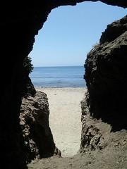 Zuma beach, Ca (nereidag91) Tags: ocean california beach nature sand cave zumabeach flickrandroidapp:filter=none