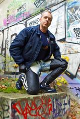 self1136 (Tommy Berlin) Tags: men leather jeans alpha levis chaps bleached 501 bomberjacke