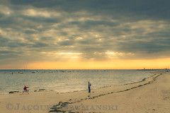 Arcachon, sunrise and Tai Chi (jsz1999 / www.jacques-szymanski.com) Tags: ocean summer france beach europe places atlantic summertime t plage arcachon atlantique ocan aquitaine blinkagain