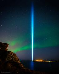 FRIARSLAN / PEACE TOWER (HPHson) Tags: iceland reykjavik johnlennon yokoono auroraborealis peacetower greatphotographers norurljs supershot friarslan hphson blinkagain lennonljsi