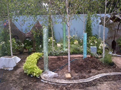 Garden under construction (apollocreative) Tags: garden sensory bubbletubes