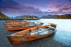 The Lake District in full colour (PeterYoung1) Tags: autumn england boat twilight o lakedistrict scenic hills p derwentwater keswick thelakedistrict flickrstruereflectionlevel1