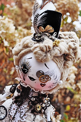Tibby Deville (boopsie.daisy) Tags: brown black eye art big beige doll handmade lace ooak goth victorian feathers cream tophat gadget custom steampunk boopsiedaisy shannybannany