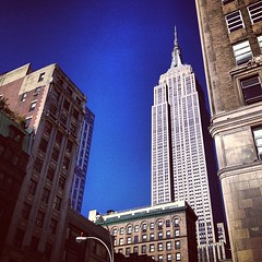 Empire State Angle (Sylvia Syracuse (Gothamiste) iPhone and Canon DSLR) Tags: nyc newyorkcity newyork architecture buildings square manhattan squareformat empirestatebuilding empirestate gotham newyorknewyork skycrapers thebigapple newyorkscenes iphoneography instagramapp uploaded:by=instagram bestof2012 gothamiste