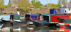 Narrowboats at Galgate. Photo