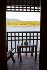 Over the Mekong (Ursula in Aus) Tags: window river thailand view balcony mekong goldentriangle chaingrai   earthasia