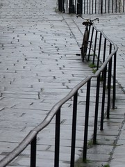 the old loner (pix-4-2-day) Tags: street lines bicycle alone perspective cobbled diagonal handrail pix42day