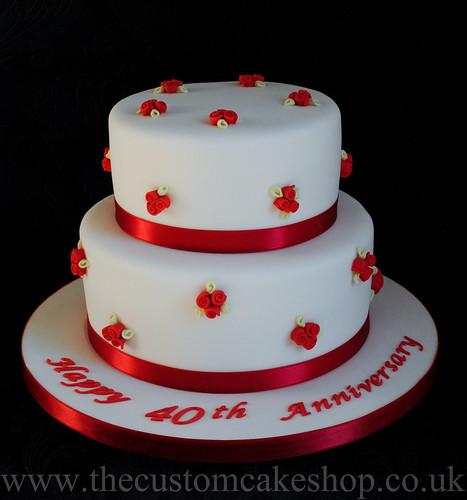 pin 40th wedding anniversary cake topper from staticweddingandcakescom