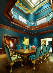 Rand McGlynn-Phelps House Dining Room by Karen Melvin