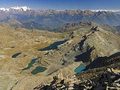 048 - monte Rosa is on the left (TFRARUG) Tags: mountain lake alps cross hike aosta ibex avic dondena