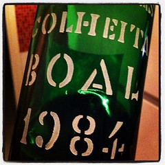 "D'Oliveiras. 1984. Boal. #madeira #madaboutmadeira #wine #portugal • <a style=""font-size:0.8em;"" href=""http://www.flickr.com/photos/85787433@N08/8148562047/"" target=""_blank"">View on Flickr</a>"