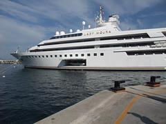 The Lady Moura at Monte Carlo (Steve Barowik) Tags: harbour yacht grand f1 casino monaco prix carlo cote monte gp millionaire grimaldi principality catchycoloursblue rascasse dazur barowik stevebarowik sbofls26