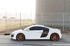 Audi R8 x PUR 4OUR (- Icy J -) Tags: white cars car rose hongkong gold body wheels fast hong kong kit carbon audi rims ppi pur r8 monoblock fibre worldcars 4our