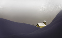 Puy Sant Vincent (@lain G) Tags: france nature eau lumire brouillard eglise hautesalpes provencealpescotedazur puysaintvincent lumire