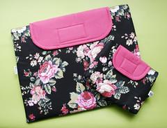 Case para notebook + estojo (Meia Tigela flickr) Tags: notebook handmade laptop artesanato capa artesanal craft case computador tecido netbook estampado feitoamão