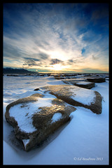 Step Stone (Ed Boudreau) Tags: sunset mountain ice rock alaska sand lowtide turnagainarm iceflow alaskamountian