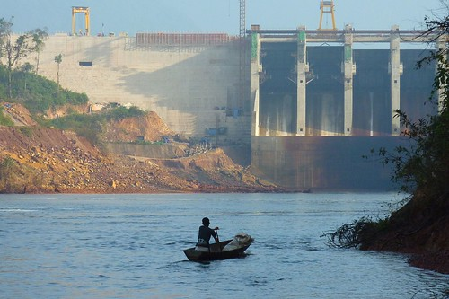 Nam Gnouang Dam (60MW), on a tributary of the Nam Theun River in Laos.  Photo by Eric Baran, 2011.