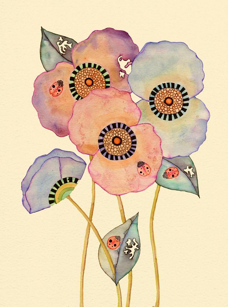 flowers art washes - photo #49
