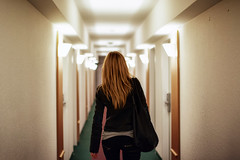 leaving (green.pit) Tags: woman hair person 50mm lights hotel back nikon f14 14 perspective sigma blond aachen fullframe frau fx rcken d800 haare hinten 5014 nikond800 pitgreenwood